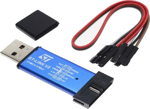 Programador Usb St-link V2 Stm8 Stm32 Usb Con Cable Tecnoped