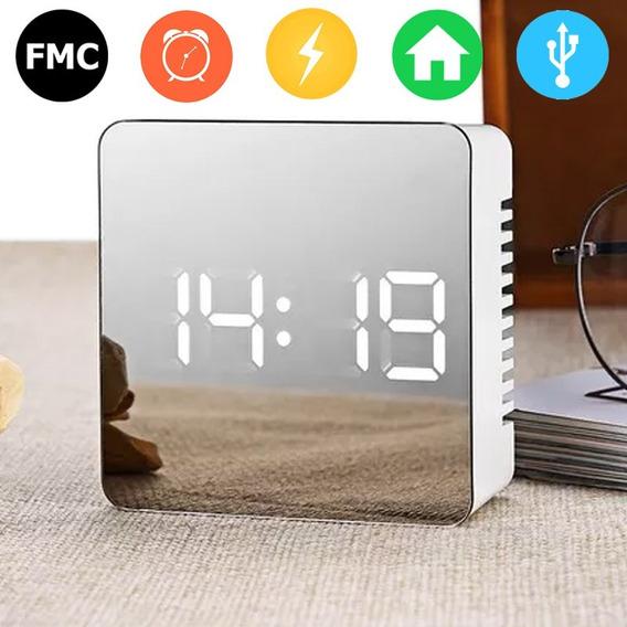 Reloj Espejo Mirror - Alarma - Led - Temperatura