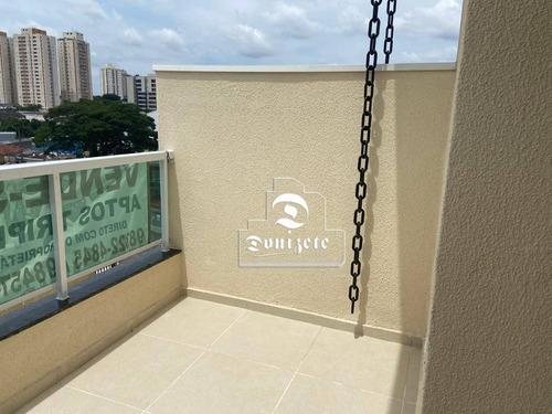 Apartamento Triplex Com 2 Dormitórios À Venda, 75 M² Por R$ 310.000,00 - Vila América - Santo André/sp - At0024