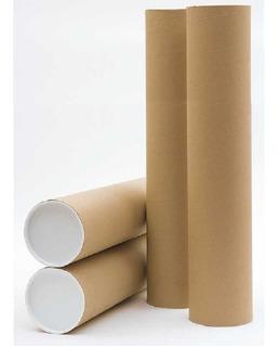 Tubo Postal De Papelão Tubete Canudo 50cm X 6,35 Ø 03 Unds