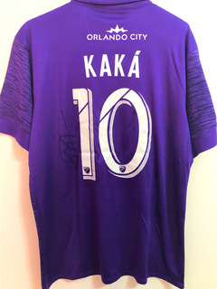 Camisa Orlando City Autografada Kaká