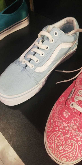 Zapatillas Vans Old Skool . Nuevas Talle 36.5 Color Celeste