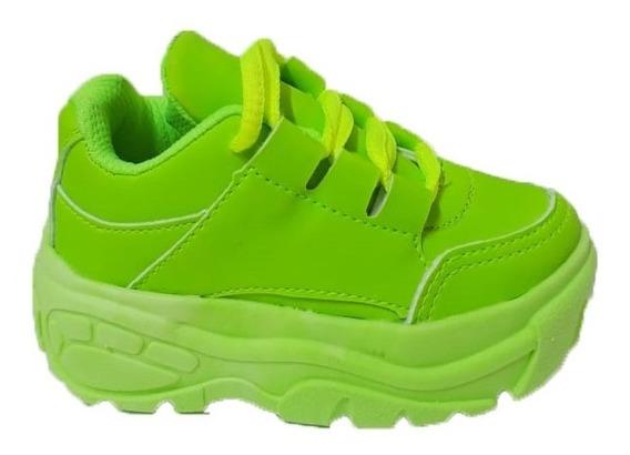 Tênis Infantil Sneaker Chunky Plataforma Meninas Promoção