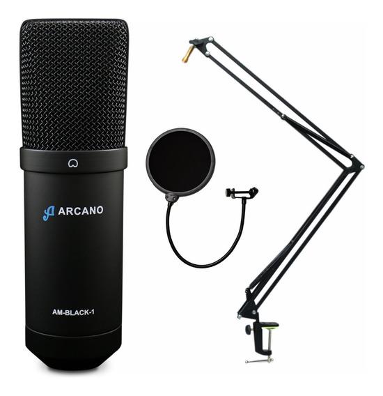 Kit Arcano Am-black-1 Usb + Pedestal Articulado + Am-f1