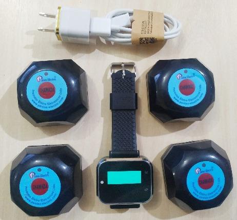 Kit 01 Relógio Chamador De Garçons+03 Botões De Chamada Wifi
