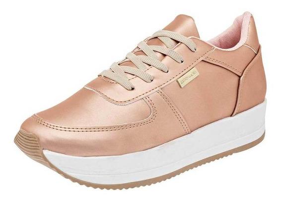 Tenis Moramora Mujer 203 Color Oro Talla 22-26 -shoes