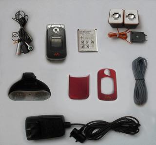 Sony Ericsson W300 / W300i (con 7 Accesorios) Negro