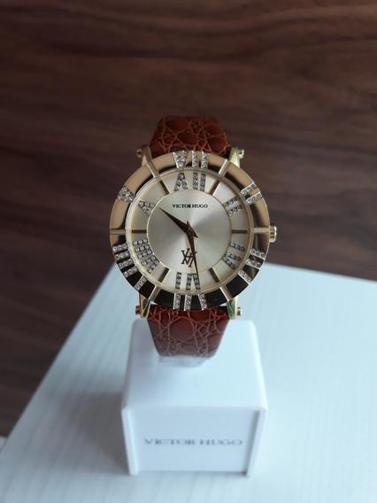 Relógio Victor Hugo Vh10048 + Garantia De 1 Ano + Nf