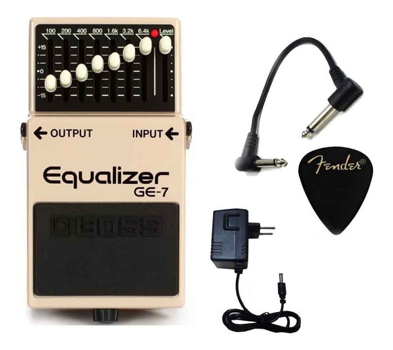 Pedal Boss Ge-7 Equalizer P/ Guitarra Booster Solo C/ Fonte