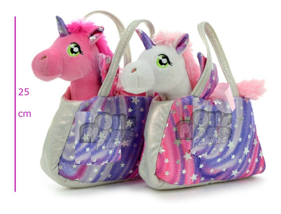 Cartera Unicornio De Peluche Carterita Divina Importado !!