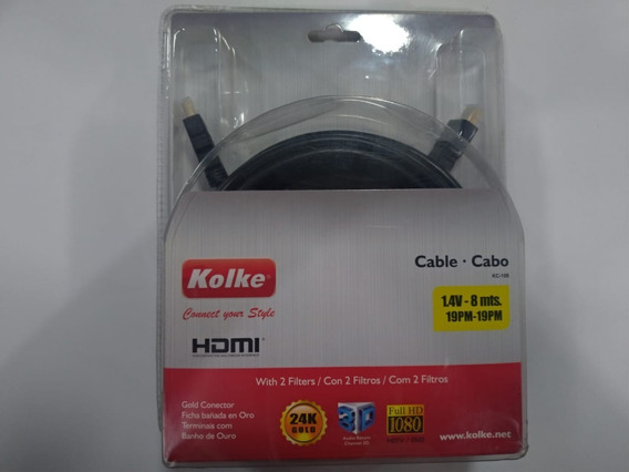 Cabo Hdmi Full Hd 4k 8mts Tv Blu-ray 08 Metros