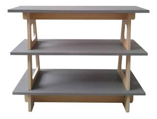 Mueble Melamina Lino Gris 70 X 90 X 40 Cm