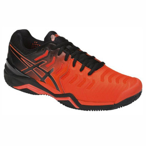 Tênis Asics Gel Resolution 7 Clay Laranja E Preto 2019 Novo