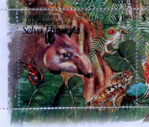Imagen 1 de 4 de Timbres Postales Mexico Conservemos La Selva Humeda