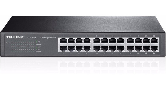 Switch Tp-link Tl-sg1024d Desktop/rack 24 Puertos Gigabit
