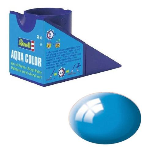 Tinta Acrílica Light Blue Ral 5012 Gloss 18ml Revell 36150