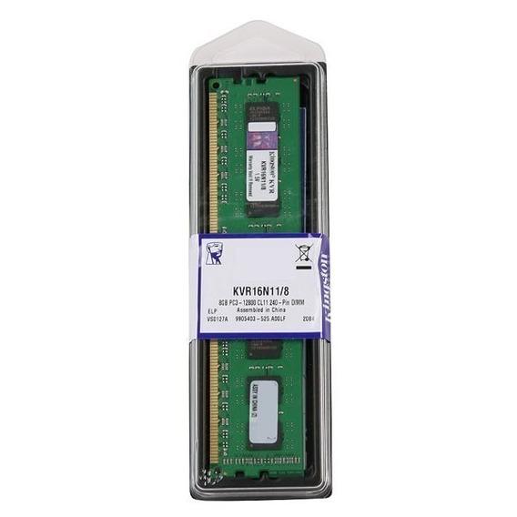 Memória 8gb Ddr3 1600mhz Kingston Kvr16n11/8 Desktop .
