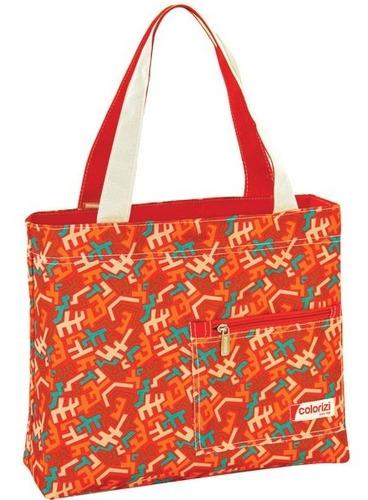 Bolsa Shopping Bag/tote Aztec Gd C/ziper Yangzi