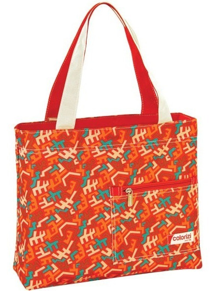 Bolsa Shopping Bag/tote Aztec Gd C/ziper Yangzi