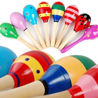 2pcs Set Maracas Percusión Musical Mano Instrumento Shaker B