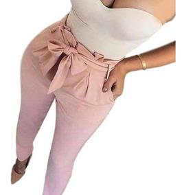Calça Social Laço Feminina Cintura Alta Lançamento Skinny