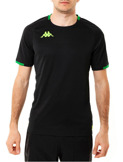 Camiseta Abou 2 Black-green S Black Hombre Kappa