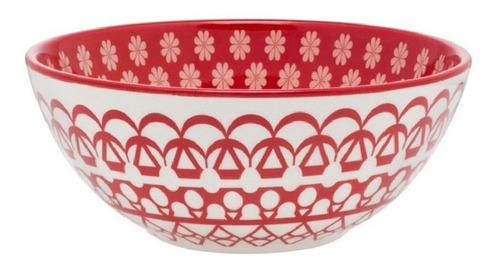 Bowls Compotera Cerámica Decorado Renda