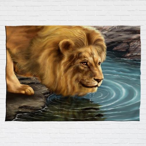 Stompy Tecido Decorativo Decoração Leão Lion Art Natureza
