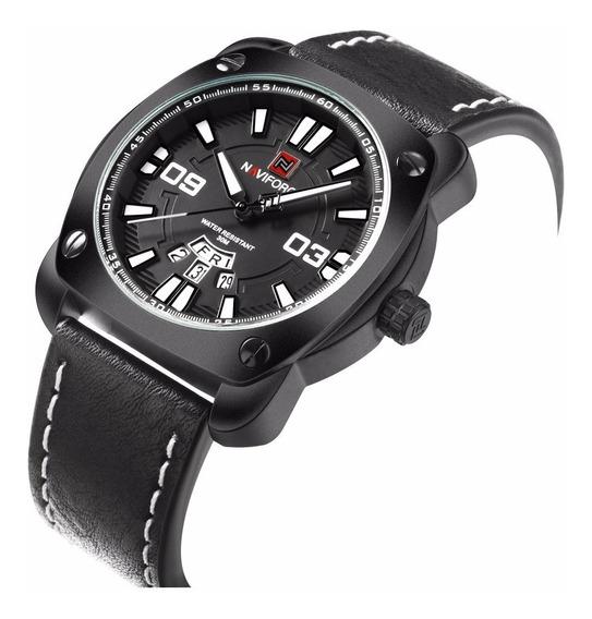 Relógio Masculino Naviforce Speed Racer Pulseira Em Couro