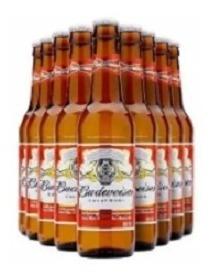 Promo Cerveza Budweiser Botella 355ml X24 Unidades X Funda