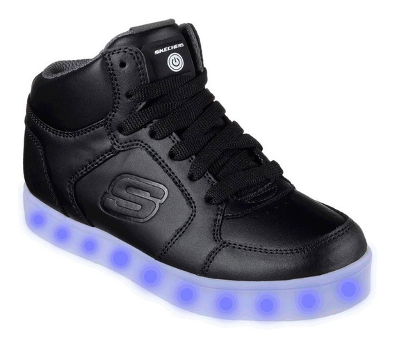 Skechers Zapatillas Unisex Energy S Lights Boys Negro