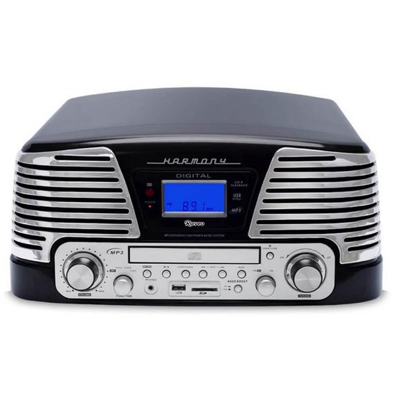 Toca Discos Raveo Harmony Vintage Anos 50 Preto Bluetooth U