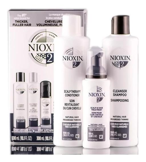 Nioxin 2- Sh 300ml+cd 300ml+treatamento 100ml