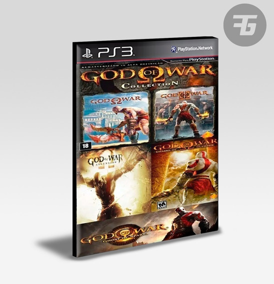 God Of War 1 + 2 + Ascension + Olympus + Sparta - Ps3
