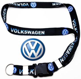 Chaveiro Carro Volkswagen Cordão Pescoço Preto Digital