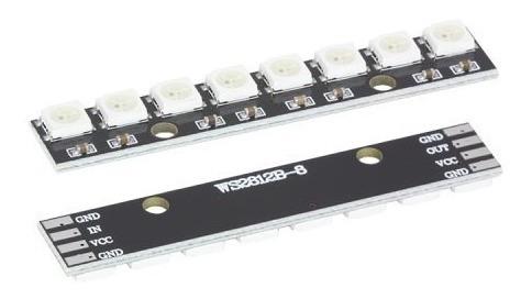 Modulo C/8 Leds Rgb Ws2812 5050 Em Linha