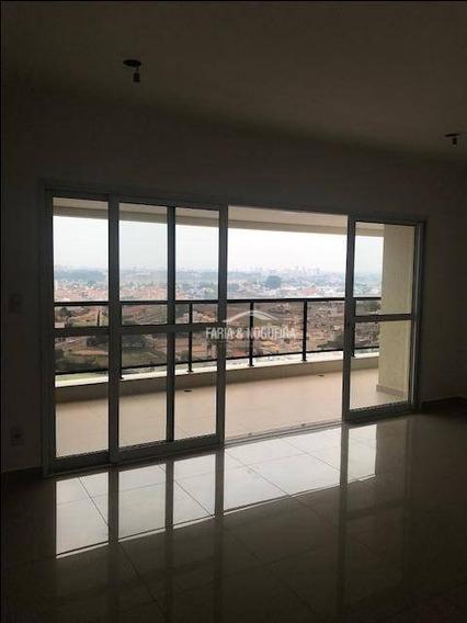 Apartamento Novo Com 3 Dormitórios Sendo 1 Suíte, Para Alugar, 110 M² Por R$ 3.000/mês - Residencial Portinari, Cidade Jardim - Rio Claro/sp - Ap0387