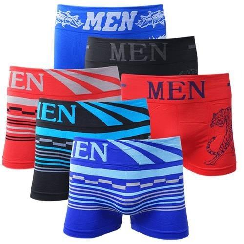 Kit 30 Cuecas Boxer Men Para Homem P/m G/gg + Frete Grátis