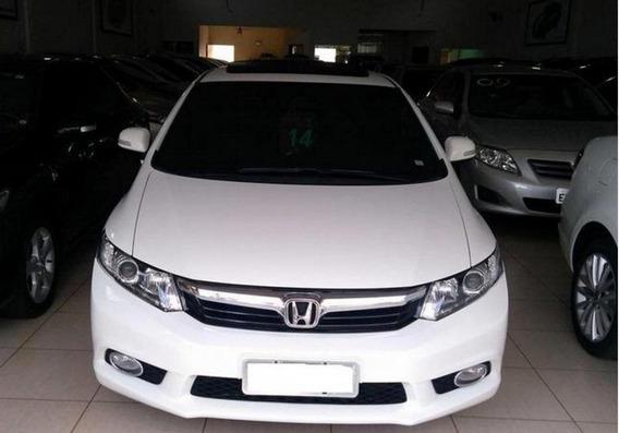 Honda Civic 2.0 Exr 16v Flex 4p Automático 2014 Cor Branca