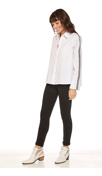 Camisa Gia Poplin Spandex Mujer Mirta Armesto