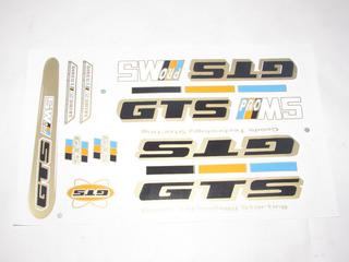 Adesivo Colante Bike Gts Pro M5 Azul/amarelo/preto Cdg 895