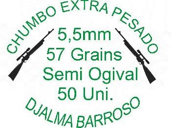 Chumbinho Extra Pesado Ogival 5,5mm 57grains- 50 Chumbinhos