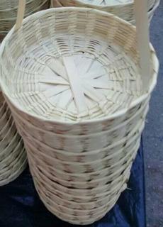 Paquete De 140 Tortilleros / Canastas De Palma Sin Tapa Natu