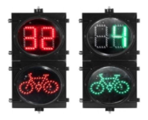 Semáforo Vial Led 300mm Tipo Ciclista Dinámico