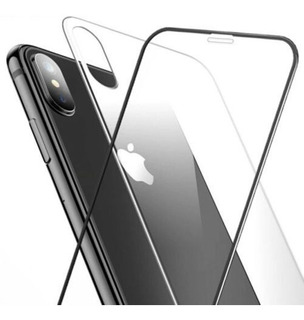 Pelicula iPhone Vidro 5d + Traseria Vidro iPhone XS Max Xr X