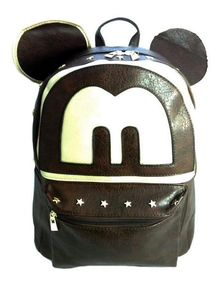 Bolsa Mochila Escolar, Passeio, Grande Feminina Mickey