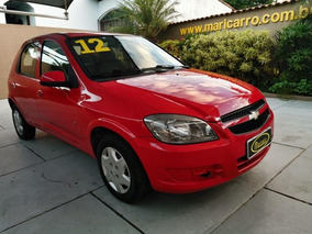 Chevrolet Celta Lt 2011/2012 1.0 4pts Completo Vermelho