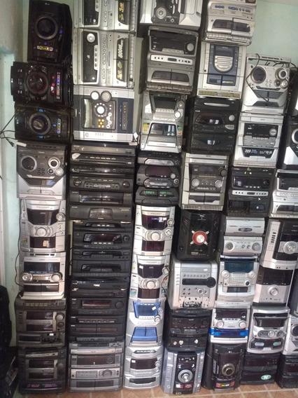 Lote De Som Philips Sony Lg Gradiente Aiwa Panasonic Com Def