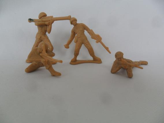 Boneco Soldado Soldadinho Fardado Miniatura Lote Com 4 Unida