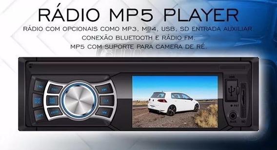Rádio Mp5 Player Bt 6308 Rayx Usb Sd Aux Controle Remoto